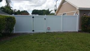 pvc fence installation